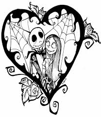 Small Picture Nightmare before christmas coloring pages jack and sally in love