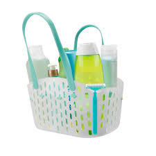 plastic shower caddy with handle. Delighful Plastic White Plastic Shower Caddy With Blue Handle For Bathroom Stuff Organizer  Idea To Plastic Shower Caddy With Handle T
