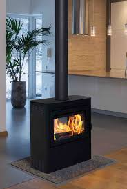 the vision is the industry s first and only see through wood burning stove