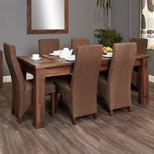 bundle oak dining set 150 208cm extending table 6 full back upholstered chairs baumhaus aston oak dining set