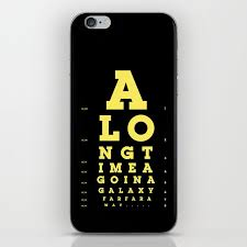 Eye Chart On Phone Jed Eye Chart Iphone Skin By Dschwen