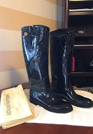 louis vuitton rain boots black eu 39 us 9