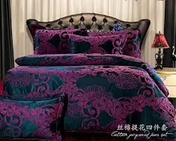 royal damask duvet cover set double size bedding black sweetgalas