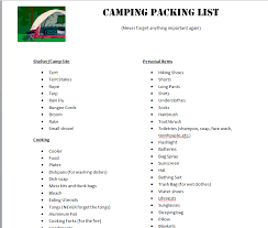 Free Printable Camping Checklist | Camping checklist, Camping and ...