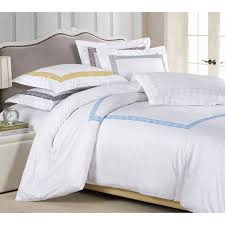 superior serena embroidered 3 piece cotton sateen duvet cover set
