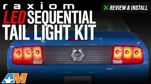 2005 2009 mustang raxiom led sequential tail light kit review install