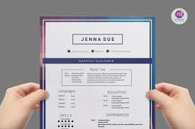 2 Page Resume Template Word Editable Modern CV Template Resume Templates on TheHungryJPEG 36