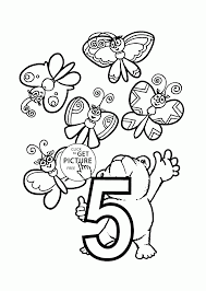 Small Picture Coloring Pages Of Number 5 Coloring Pages