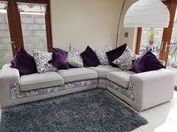 greypurple corner sofa for in kill