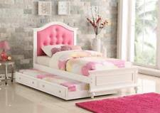 girls twin bed with trundle. Modren Twin NEW KAYLA WHITE FINISH WOOD PINK LEATHERETTE GIRLS TWIN SIZE BED W  TRUNDLE Inside Girls Twin Bed With Trundle E