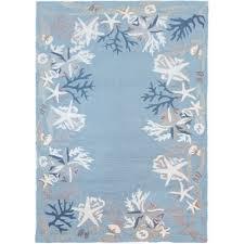 white c reef indoor outdoor rug 3 x 5 ft