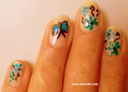Nail art ideas – Butterfly nail art tutorial with step by step ...
