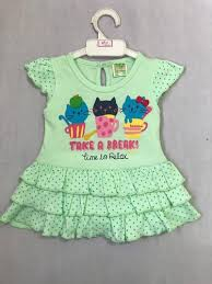<b>Casual Wear Baby</b> Girl <b>Baby</b> Round Neck Fril <b>Printed</b> Cotton Frock ...