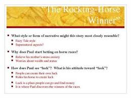 the rocking horse winner plot summary schoolbytes the rocking horse winner is about a family whose parents are so confused about their own the rocking horse winner essays written by students