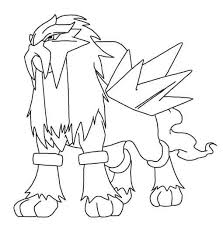 Small Picture Pokemon Coloring Pages Entei Coloriageentei Coloring Pages Full