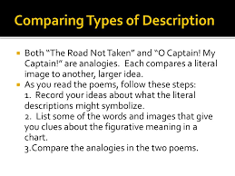 compare contrast essay  descriptive writing paints pictures  5