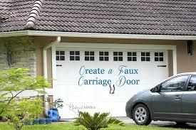 sweet faux garage door windows diy