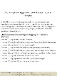 Top8engineeringprojectcoordinatorresumesamples 150606093905 Lva1 App6892 Thumbnail 4 Jpg Cb 1433583646