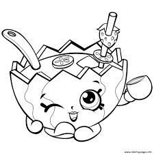 Coloring Pages For Girls Shopkins At Getdrawingscom Free For