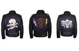 levi s vintage clothing partner with international artists to customize black leather jackets for the brand s upcoming biker exhibition in san francisco