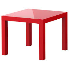 lack side table  high gloss red  x    ikea