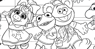 Coloring books for boys and girls of all ages. Muppet Babies Coloring Page For Your Kids Disney Family