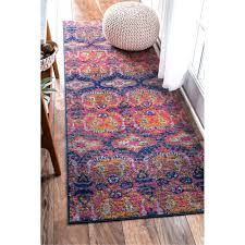 A Typical Rug Runner Sizes Nuloom Bohemian Damask Navy Blue 2 8 X