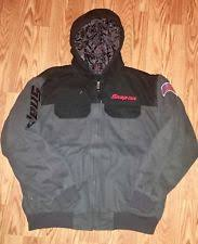snap on heated jacket. snap-on tools black gray heavy duty work winter coat-worn \u0026 washed only once-xl snap on heated jacket