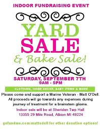 Benefit Flyer Wording Garage Sale Flyer Templates By Free Neighborhood Yard