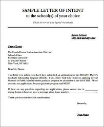 Letter Of Intent For University Impressive 48 Letter Of Intent Samples PDF DOC Sample Templates