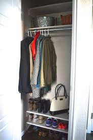 here for an easy diy to create coat closet shelves and get rid of the