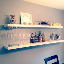 floating wall shelf ikea shelves for walls white stained wooden floating shelf for wine racks best