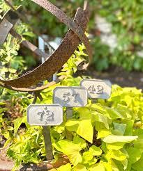 vintage french garden stakes garden