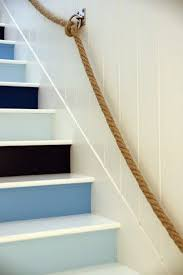 Decorating: Cute Grey Painted Stairs Runner - Staircase