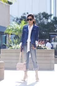 halliedaily fashion street style style leather jacket acne leather jacket leve s boyfriend jeans zara silk tie shirt zara belt chanel pink classic