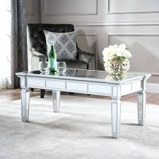mirrored coffee table tray round