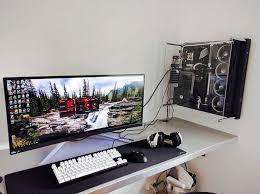 computer desk cable management modern best gaming desks images on