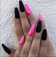 30 incredible acrylic black nail art designs ideas for long nails