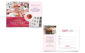 design templates for invitations corporate event planner caterer invitation template design