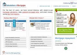 Calculators4mortgages Com Mortgage Calculators Free And Online