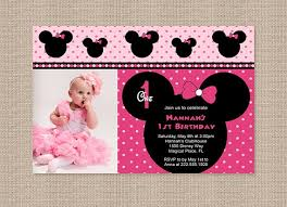 First Birthday Invitations Free Printable Free Printable Minnie Mouse 1st Birthday Invitations Free