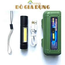 Đèn pin mini siêu sáng, đèn pin sạc cổng micro USB đa năng nhiều chế độ  sáng tuổi thọ 100.000 giờ tại Hà Nội