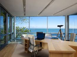 outside home office. view in gallery modern home office keeps the focus on outside design booth hansen 7
