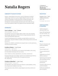 How To Write A Nanny Resume To Wow Any Family With Resume Template