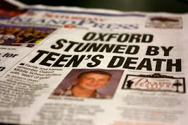 News articles teen deaths