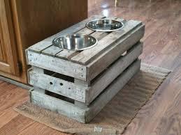 image showing elevated dog bowls