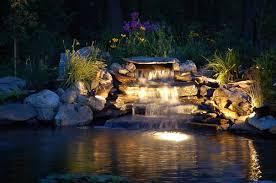 outdoor garden lighting ideas. exterior spaces pond lighting ideas outdoor garden