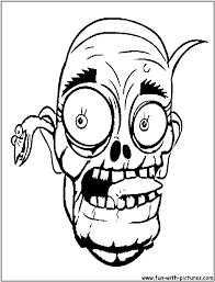 Zombies Coloring Pages Scary Zombie Coloring