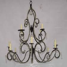 india vicc 122 5 arms glass crystal iron chandelier