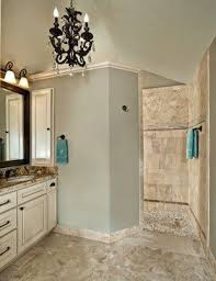 Doorless Shower, obviously you need something to act as a splash guard,  angles wall could work